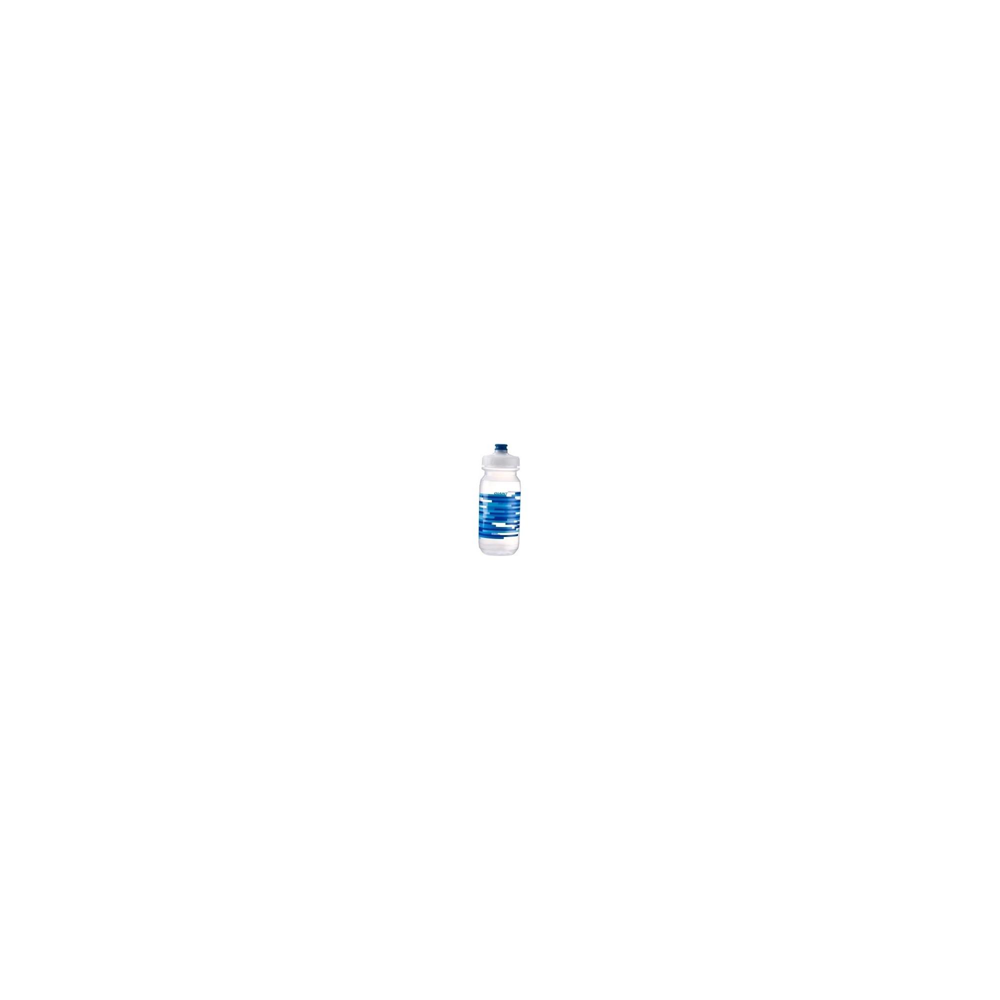 Bidon velo Giant transparent-bleu doubleSpring rapide 600 & 750ml