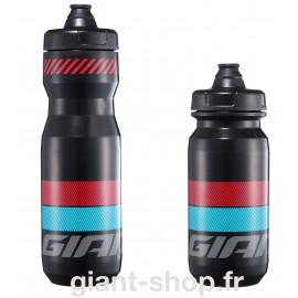 Bidon Giant Cleanspring transparent noir/rouge/bleu 600 & 750ml