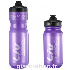 Bidon LIV Cleanspring transparent violet argent 600 & 750ml