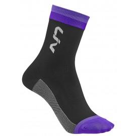 Chaussettes Liv Race Day Noir/Violet