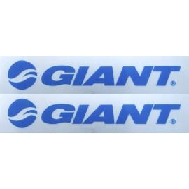 Autocollant transparent GIANT 2x5 cm