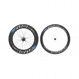 Paire de roues carbone mixte à pneus Flashwheels