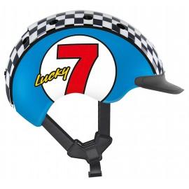 Casque vélo Casco Mini 2 Lucky 7 bleu