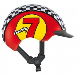 Casque velo enfant Casco Mini 2 lucky 7 rouge