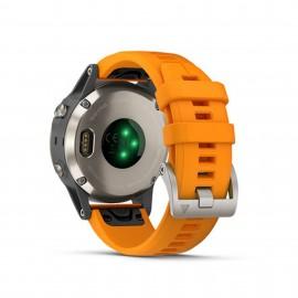 Garmin Fénix 5 Plus Titane sapphire orange