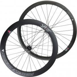 Paire de roues disque Profile Design 38/58 à pneus