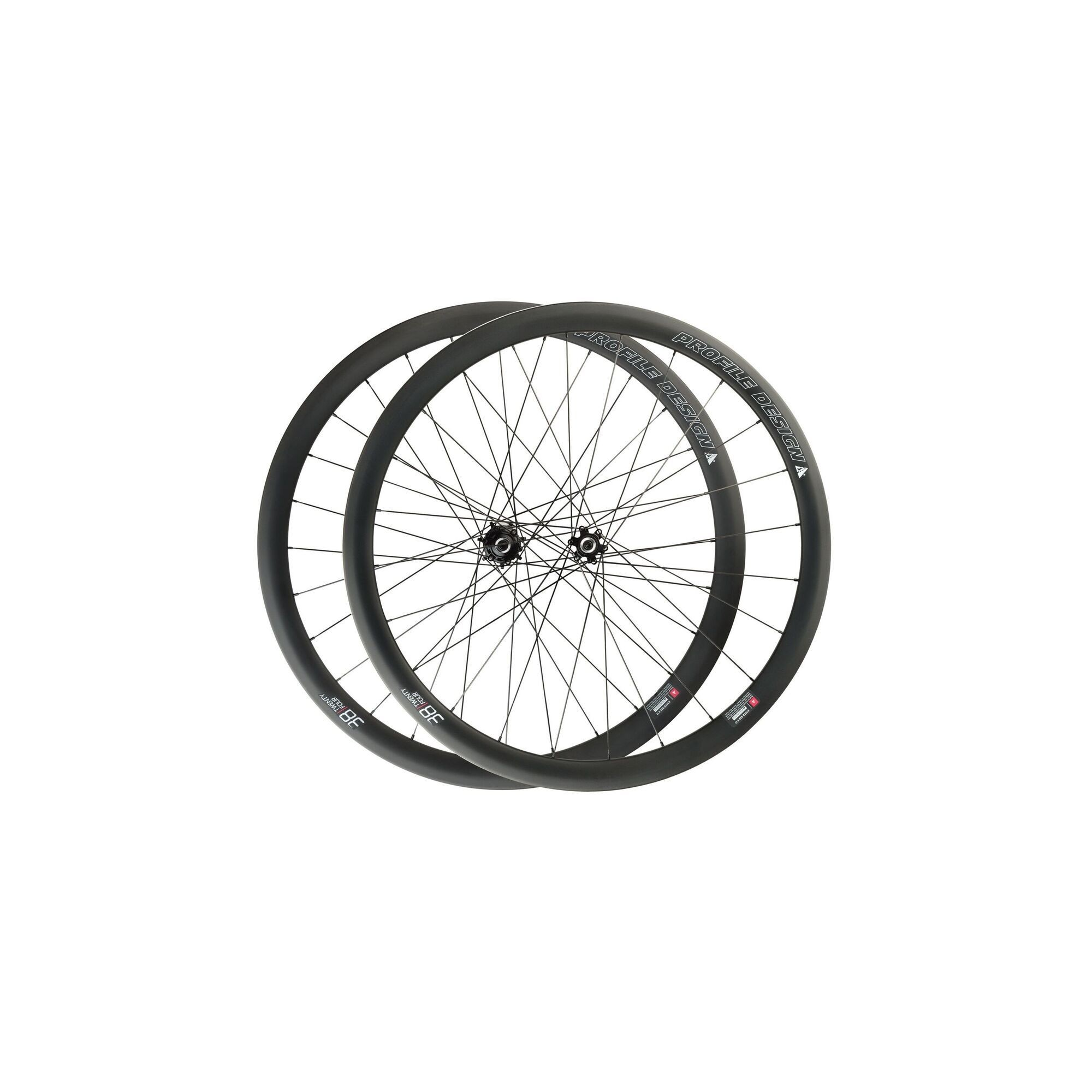 Paire de roues disques Profile Design 38 à pneus veloseine