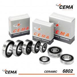 Roulement 6802 CEMA Céramique Hybride