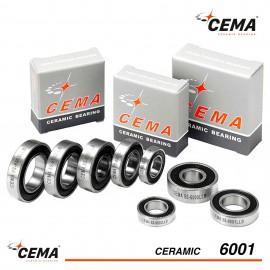 Roulement 6001 CEMA Céramique Hybride