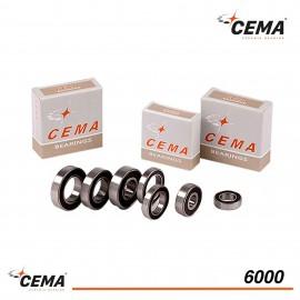 Roulement 6000 CEMA Acier chromé pour roue de vélo