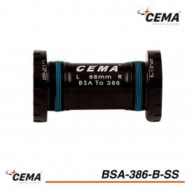 Boitier de pedalier BSA 386 Chromé pour FSA386 et Rotor 30