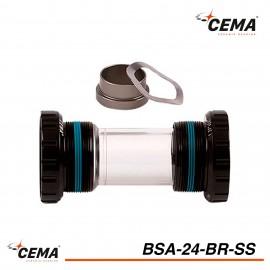 Boitier de pedalier BSA 24 Inox pour SRAM GXP CEMA BSA24BR-SS