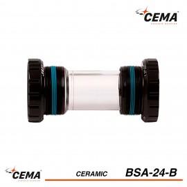 Boitier de pedalier BSA 24 Céramique pour SHIMANO CEMA BSA24B