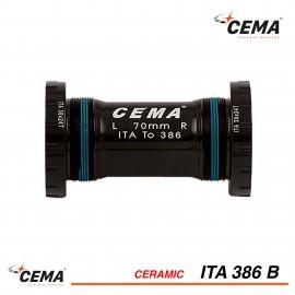 Boitier de pédalier céramique ITA 386 pour FSA386EVO et Rotor BB30 - CEMA SRC-BT-ITA386B