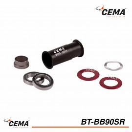 Boitier de pedalier BB90-BB95 CEMA BT-BB90SR Inox pour Sram GXP