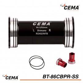Boitier de pédalier BB86-BB92 Inox pour Shimano