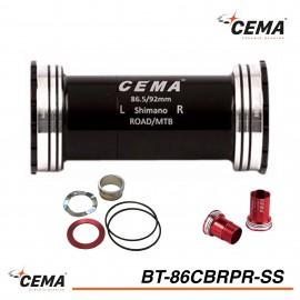 Boitier de pédalier BB86-BB92 Inox pour SRAM GXP