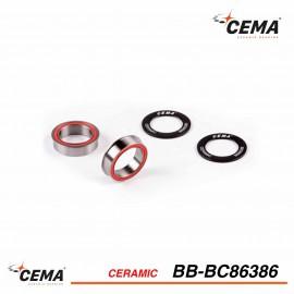Boitier pédalier BB86-BB92 céramique pour FSA386/Rotor 30mm CEMA bb-bc86386