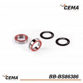 Boitier BB86-BB92 acier chromé pour FSA386/Rotor 30mm