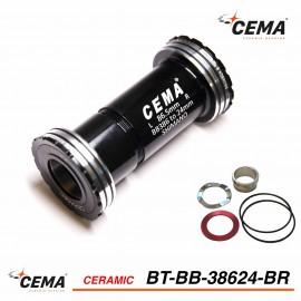 Boitier de pédalier 386 EVO Céramique pour SRAM GXP - Cema BT-BB38624BR