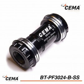 Boitier de pédalier Pressfit 30 to 24mm chromé pour Shimano CEMA BT-PF3024-b-ss