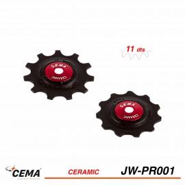 Galets de dérailleur céramique CEMA jw-pr001 plastique Shimano Sram