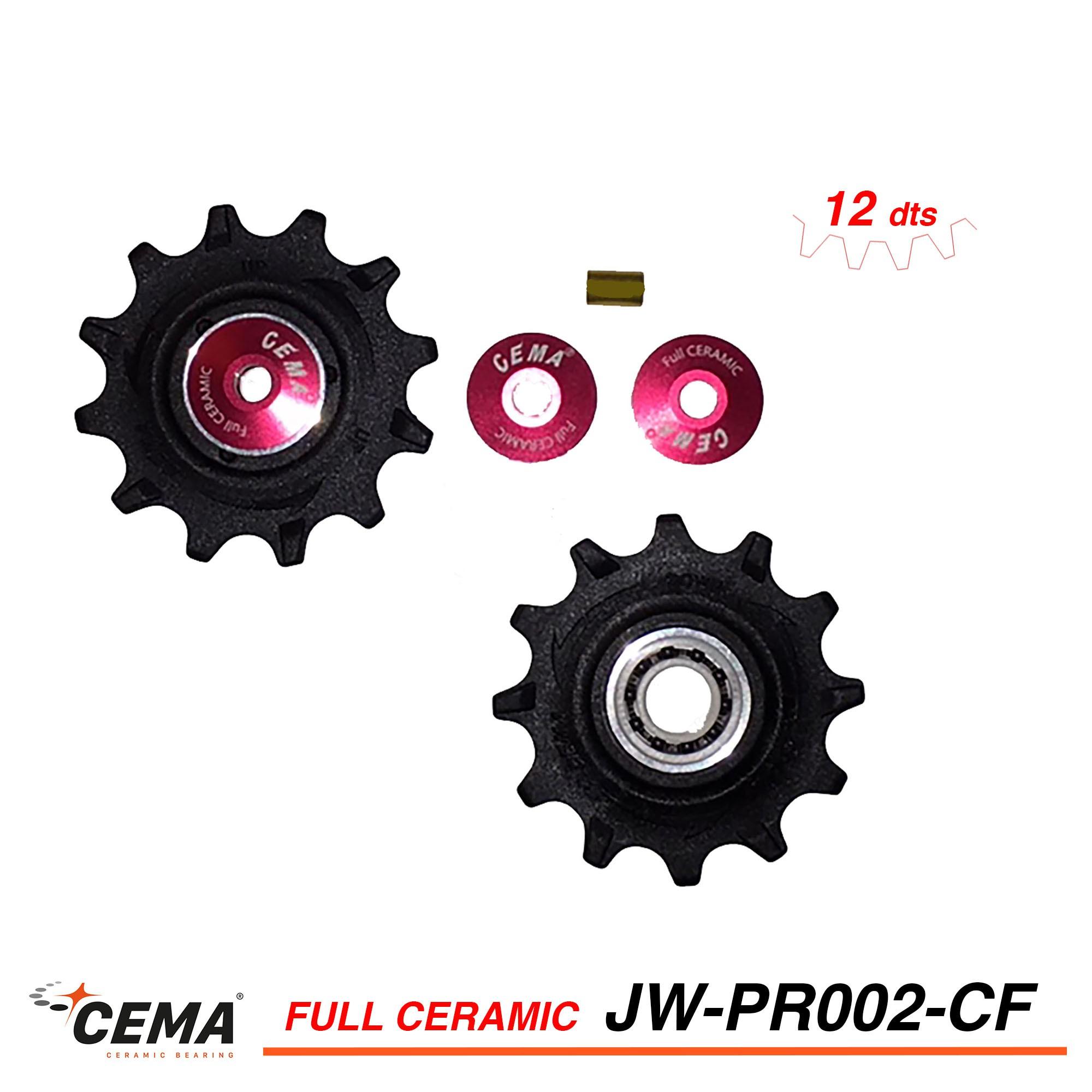 Galets de derailleur full céramique 12 dents pour SRAM CEMA jw-pr002-cf