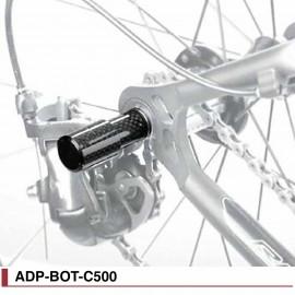 Support éclairage / Protège dérailleur carbone Fouriers ado-bot-c500