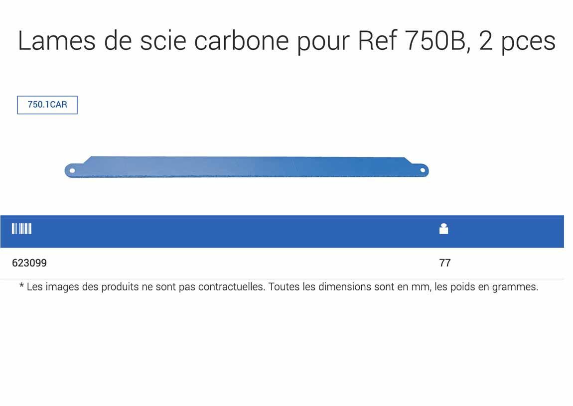descriptif lames de scie UNIOR carbone